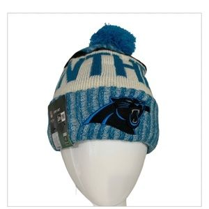 NWT NFL New Era Carolina Panthers Beanie Hat